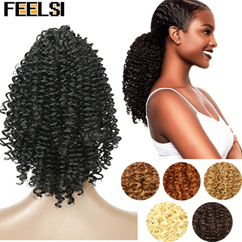 Natural Curly Hair Ponytail African American Short Afro Kinky