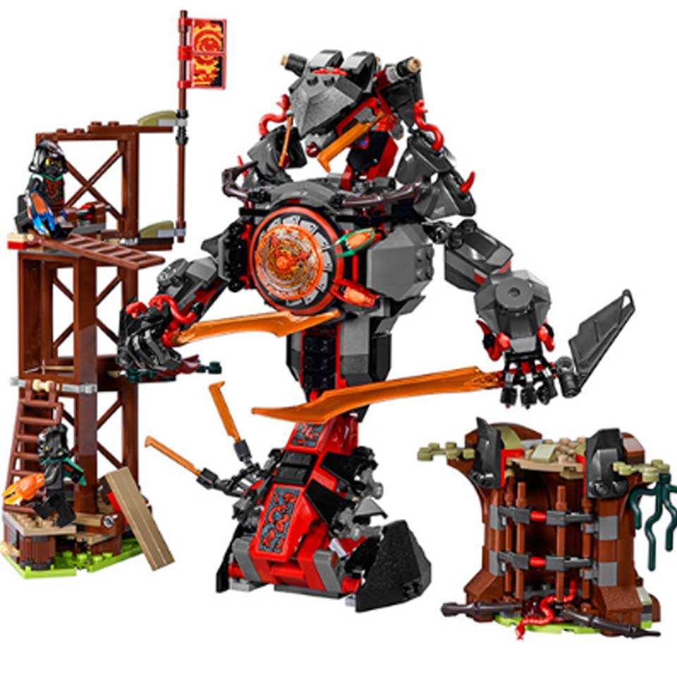 In stock 734 PCS 10583 Ninja Figures Set Compatible <font><b>Legoinglys</b></font> Dawn of Iron Doom Ninja <font><b>70626</b></font> Building Blocks Toys for Kids image
