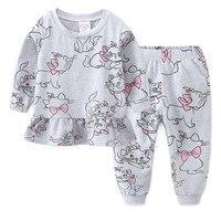 Jumpingbaby/2019 г.; пижамы для девочек; pijama infantil; пижамы для детей; ночная рубашка с мультяшным принтом; koszula nocna; пижамный комплект; Stitch chemise de nuit