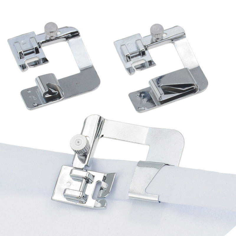 1PC 13/19/22mm Domestic Sewing Machine Foot Presser Rolled Hem Feet Set For Brother Singer Sewing Accessories 3 Size(China)