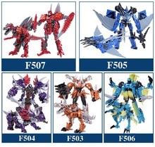 변환 Dinobots Grimlock 슬러그 Strafe 슬래시 Scorn 변형 로봇 모델 액션 피규어 Toys No Original Box