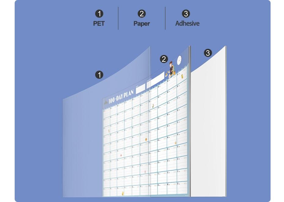 2020 diário planejador calendário de parede 100