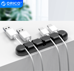 Image 1 - ORICO Cable Organizer Silicone USB Cable Winder Desktop Tidy Management Clips Cable Holder for Mouse Headphone Wire Organizer