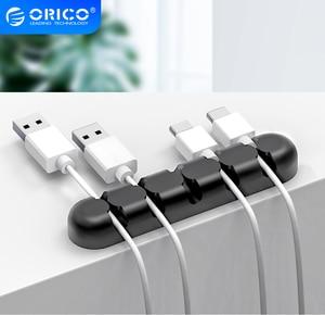 Image 1 - ORICO Organizer do kabli silikonowy Organizer do zwijania kabla USB Desktop Tidy Management kabel z zaciskami uchwyt do myszy przewód słuchawek Organizer