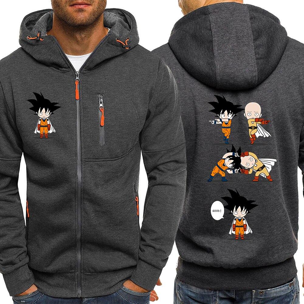 ONE PUNCH MAN Hoodies Men Dragon Ball Japanese Anime Sweatshirt Male 2019 Funny Streetwear Mens Hoodie Jacket Sportswear Hoody