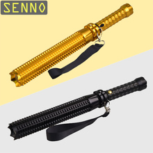 Chargeable Defense Flashlight Outdoor Emergency T6 LED 38cm Adjustable 3 Mode Rechargeable Anti-Riot Baseball Bat