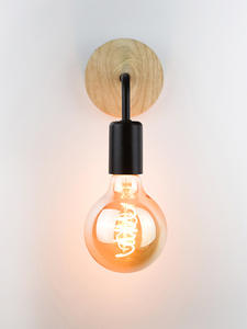 Sconce Retro Lighting-Fixture Lampara Wood-Wall-Lamp Industrial-Decor Bedside Pared Vintage