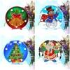 HUACAN Christmas Diamond Painting LED Lamp Light Special Shaped 5D Diamond Embroidery Mosaic Santa Claus DIY Craft Kit