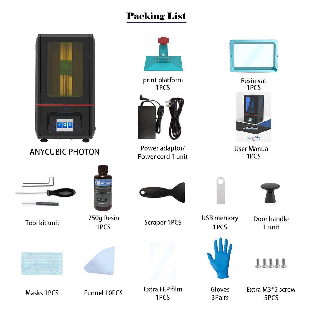 ANYCUBIC 3d принтер Фотон УФ Смола SLA Off-line печать свет-Cure Impresora 3d 2,8 ''сенсорный экран lcd высокая точность 3d drucker
