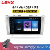 LEHX 2 rádio do carro um din Android Leitor Multimédia 8.1 Carro para toyota camry 2007 2008 2009-2011with navegação som do carro unidade de cabeça