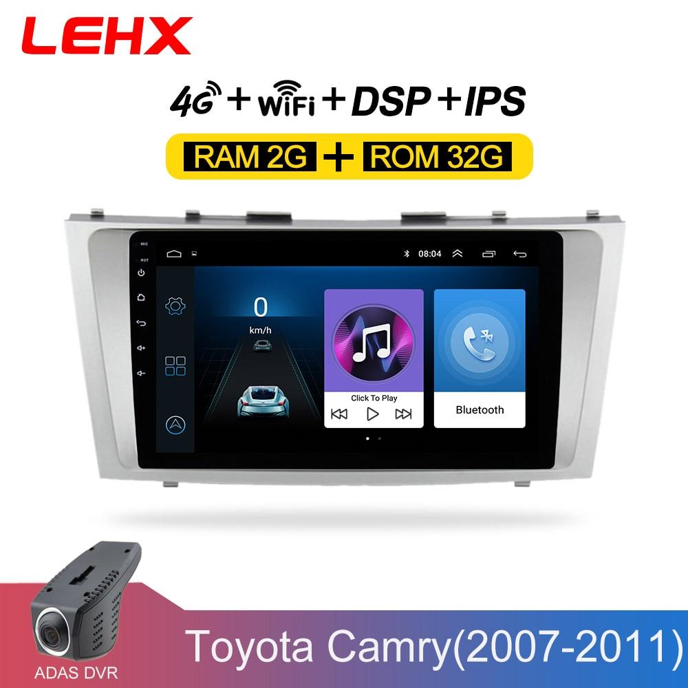 LEHX Android 8.1 voiture lecteur multimédia 2 din autoradio pour toyota camry 2007 2008 2009-2011with navigation voiture stéréo unité de tête