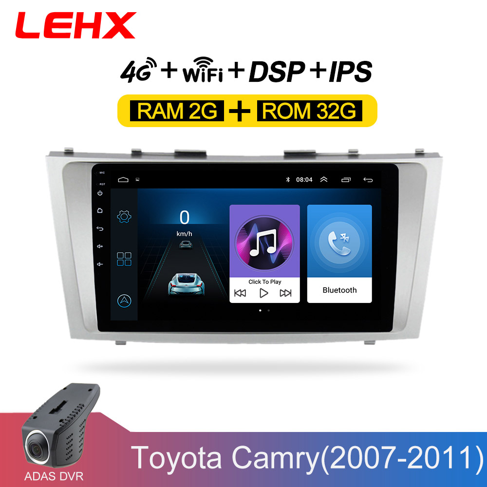 LEHX <font><b>Android</b></font> 8.1 <font><b>Car</b></font> Multimedia Player 2 din <font><b>car</b></font> radio for toyota camry 2007 2008 2009-2011with navigation <font><b>car</b></font> stereo head unit image