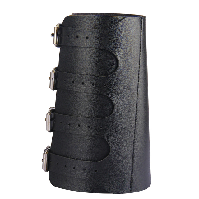 Pu Leather Gauntlet Wide Bracer Arm Armor Wristband Protector Unisex 2