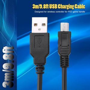 Image 4 - 3m/9.8ft USB كابل شحن مع حلقة المغناطيسي ل PS3 وحدة تحكم لاسلكية USB شاحن أجهزة سوني بلاي ستيشن PS3 اكسسوارات
