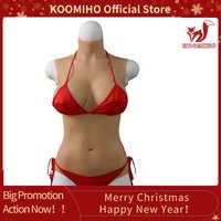 KOOMIHO Silicone Breasts Triangular Vagina Bodysuit Fake Boobs Breast Forms Hip Enhancer Pussy Crossdresser Drag Queen 3G