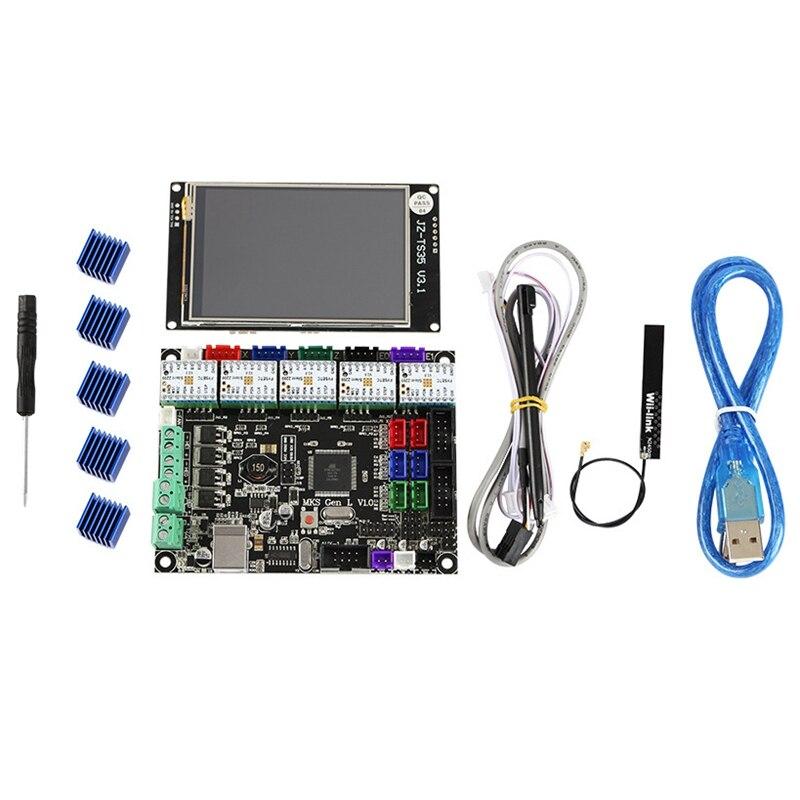3D Printer Kit Mks Gen L Motherboard + Tmc2209V2.0 Driver + 3.5 Inch Full Color Wifi Contact Screen|Display Screen| |  - title=