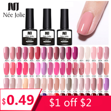 NEE JOLIE 60 Colors 8ml Gel Nail Polish LED UV Gel For Nail Gray Red P