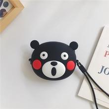 Little Bear Headphone Case 3D cartoon Hard Cartoon Earphone Box Data Line/ Key / Money/ Card Holder/ Storage Bag