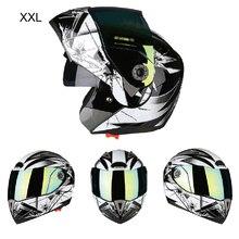 Мотоциклетный шлем для мотокросса Полнолицевые шлемы с двойными линзами козырек для мотокросса по бездорожью