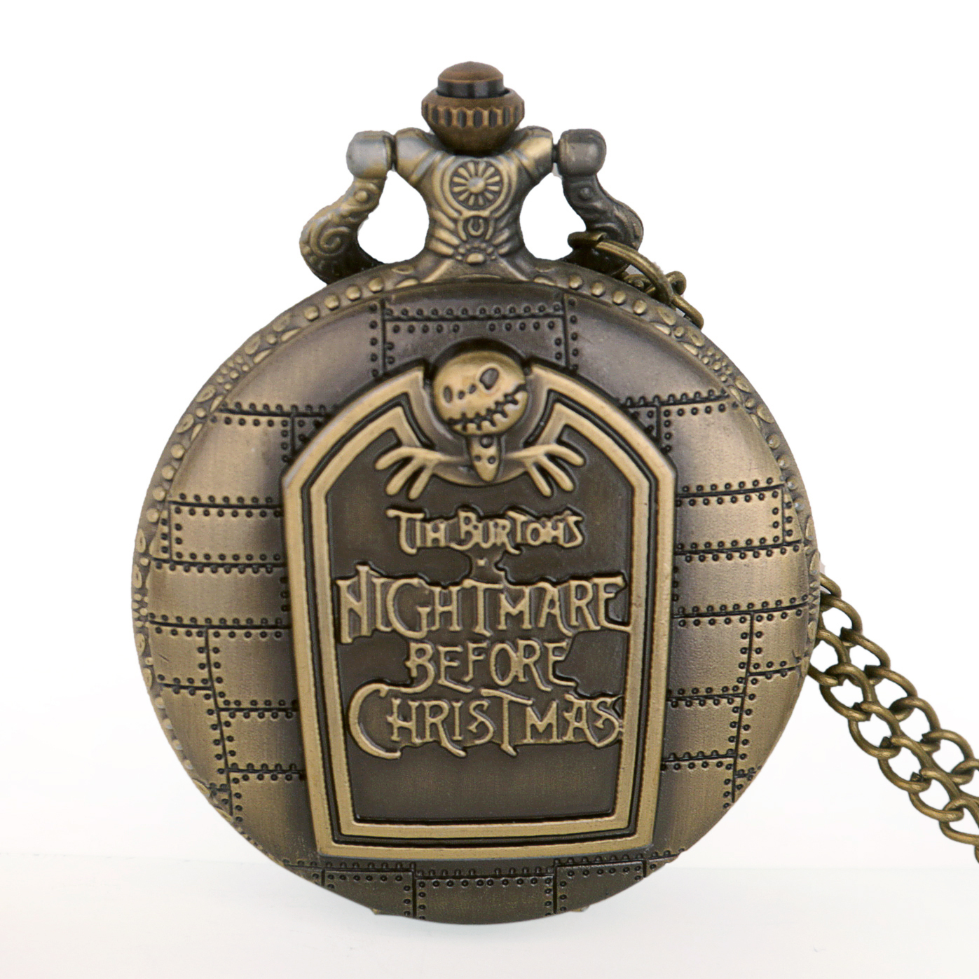 Christmas Quartz Pocket Watch Vintage Roman Numeral Display Pendant Clock Birthday Gifts For Boys Dropshipping TD2051