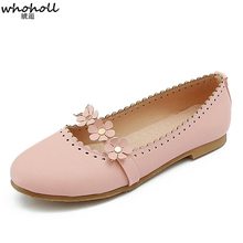 2019 Spring Summer New Women Casual Shoes For Flat White Pink Ladies Flower Loafers Zapatos Mujer B91