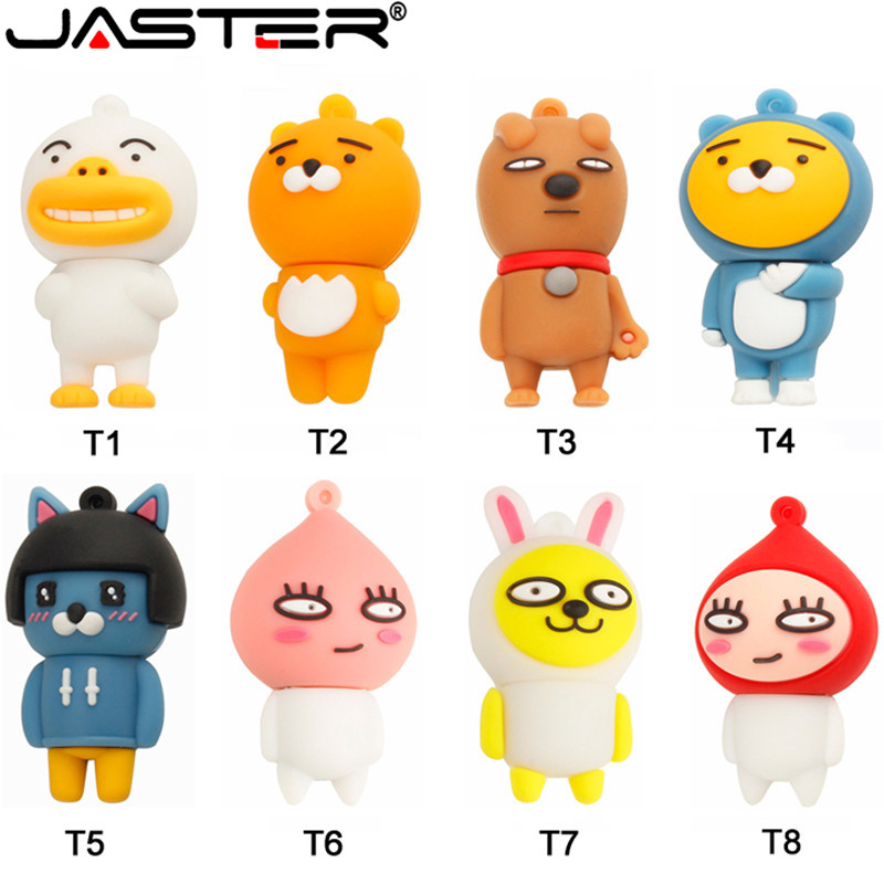 JASTER New Cute Dairy Cow Usb Flash Drive Pendrive 4GB 8GB 16GB 32GB 64GB Memory Stick U Disk Free Shipping