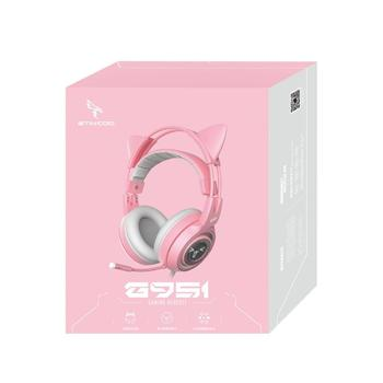 SOMIC Pink Gaming Headset 7.1 Surround-Sound G951 Cat Ear Stereo Noise Cancelling Head Phone Vibration LED USB Headsets for Girl 6