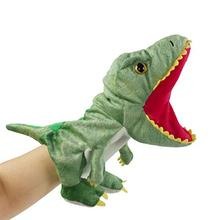 Toy Plush-Dinosaur Stuffed for Creative Role-Play Gift Bstaofy Hand-Puppet Open-Movable