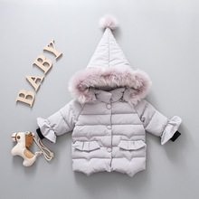 2019 Winter Down Jacket For Girls Coat Girl Cute Hooded Warm Cotton Padded Outerwear Baby Clothes