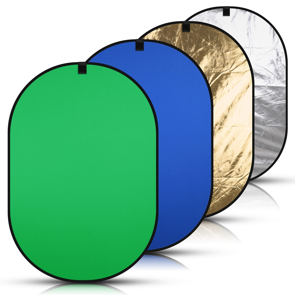 150* 200cm 4in1 Portable Backdrop Blue Green Screen Chromakey Collapsible Background Photography Light Reflector with Carry Bag|Background| - AliExpress