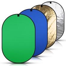 150*200cm 4in1 Portable toile de fond bleu vert écran Chromakey pliable fond photographie réflecteur de lumière avec sac de transport