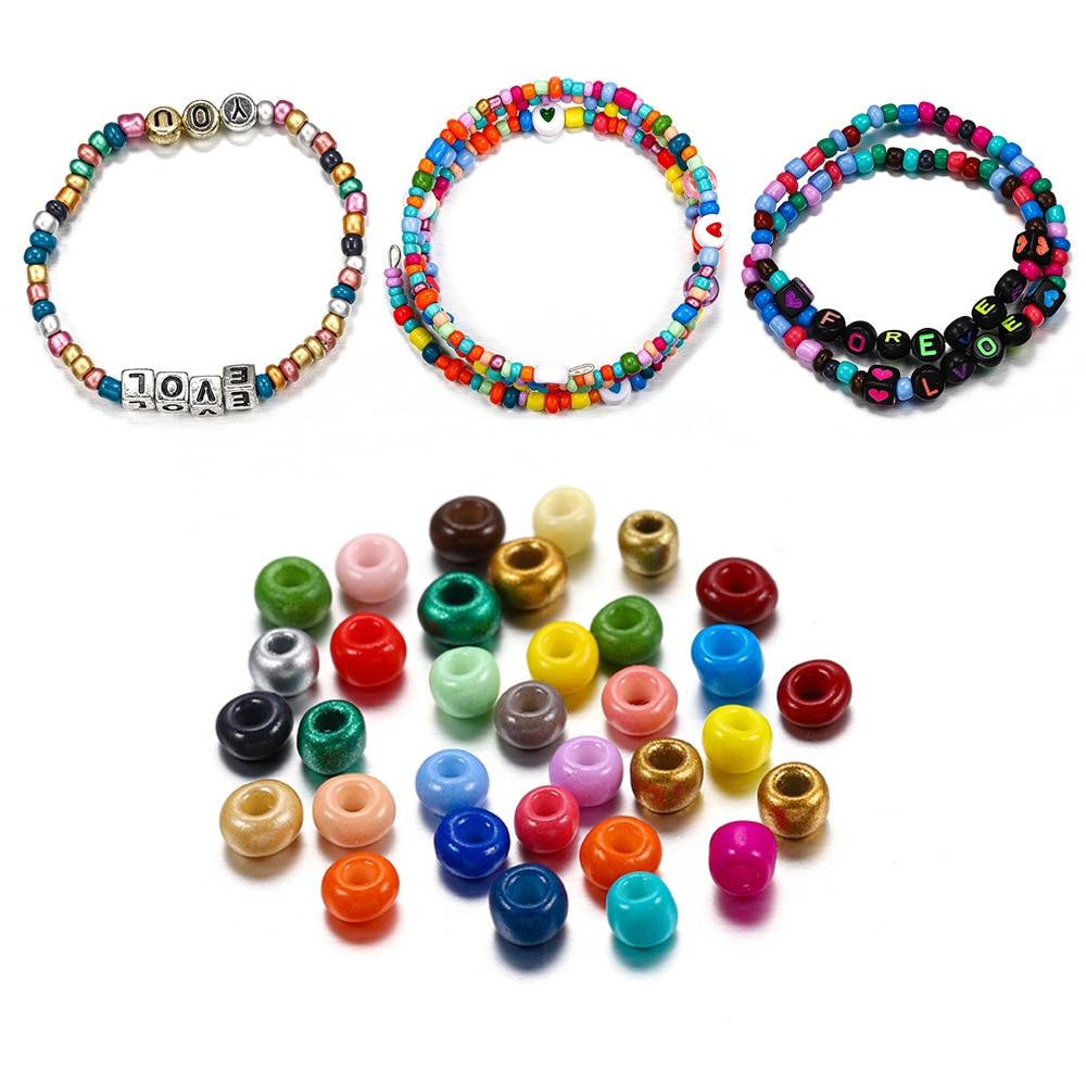 300 600 шт./лот, 3 мм, 4 мм, бисер из чешского стекла для самостоятельного изготовления браслетов, ожерелий, серег, ювелирных изделий, аксессуары|Бусины|   | АлиЭкспресс - Я б купила