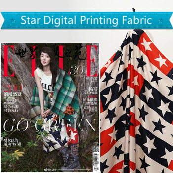 Wedding satin fabric meter brand digital printing fabric satin fashion dress handmade DIY fabric wholesale cloth