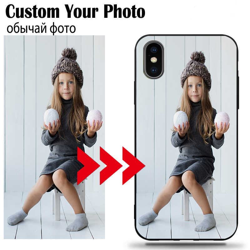 DIY Photo Custom Phone Case Black Soft Cover For Samsung A70 A80 A50 A50S A30 A40 A9 A10 A10E A20 Plus 2018 As Christmas present