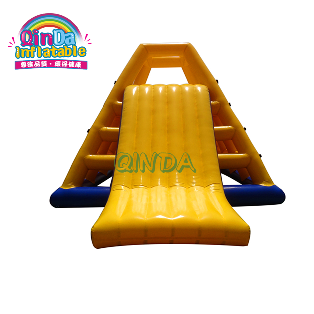 Play On Sea Lake Water Floating Island PVC Tarpaulin Inflatable Climbing Slide