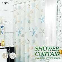 Starfish Curtain Set Luxurious Shower Sunflower Waterproof Home Decor 3D Polyester Theme Bathroom Tarfish