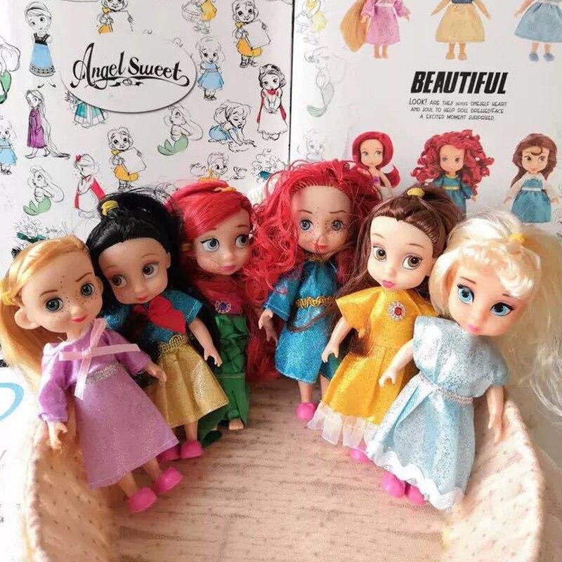 1Pcs Rapunzel Dolls Animator Ariel Doll Sharon Ariel Doll Princess Doll With Box Snow White Rapunzel Cinderella Girl Aurora Doll
