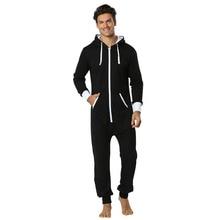 Tmall Quality Pijama Hombre Hooded Jumpsuit Men Onesie for Adults One Piece Sleepwear Long Satin Pajamas Man Night Wear 2XL