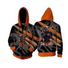 Men/Women Hooded Hoodies DC Hero Deathstroke 3D Print Zipper Long Sleeves Streetwear Unisex Sweatshirts Cosplay