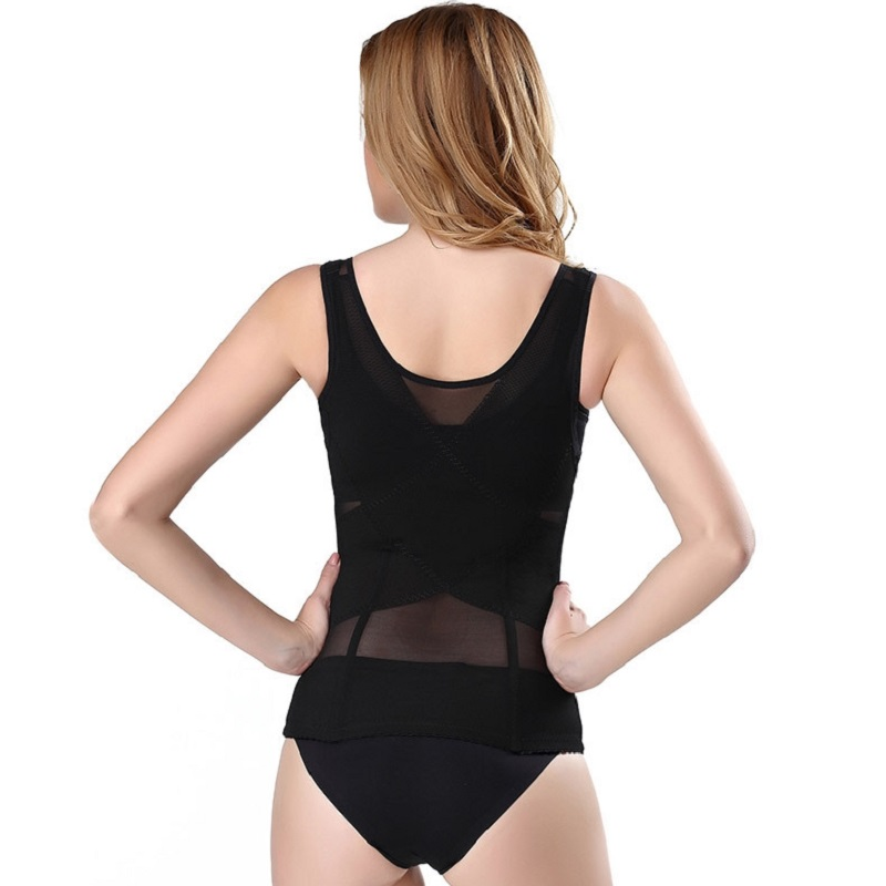 COLORIENTED 2019 New Style Solid Six row Button Body shaping Corset For Ladies Brassieres Bodywear Big Code Waist shaping Vest in Waist Cinchers from Underwear Sleepwears