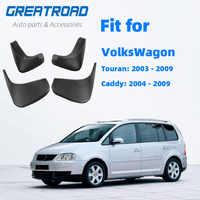 Para VW Touran Caddy 2004-2010 delantero trasero guardabarros de coche guardabarros Splash guardias barro guardabarros 2009, 2008, 2007, 2006, 2005