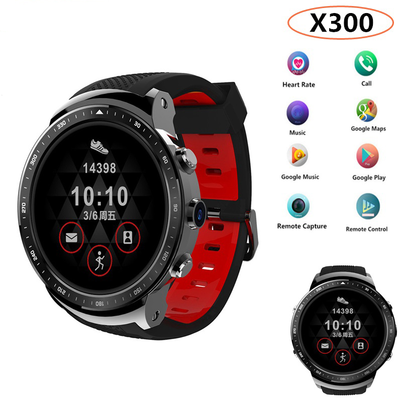Top Sale X300 Smart Watch Android 5.1 MTK6580 Ram 1GB Rom 16GB 500mAh Battery Watch With GPS 3G BT Phonewatch BT Music Pk Kw88