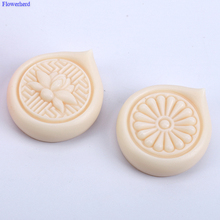 Silicone Mould Soap-Mold Handmade Round DIY Lotus Solid Lemon Easy-Release