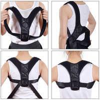 Men Back Support aligner clavicle spine back shoulder lumbar support belt posture correction to prevent strain back protector