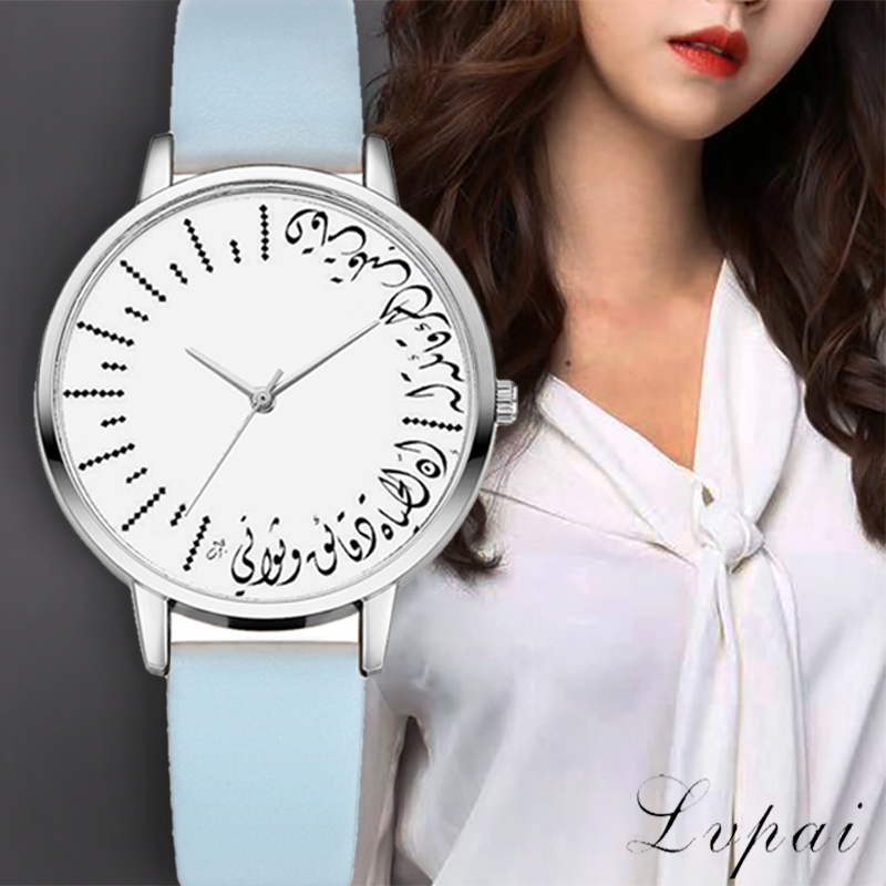 Lvpai Quartz Wristwatches Watches Women Art Scale Silver Case Leather Watchbands Female Time Sports Clock Ladies Dress Watch