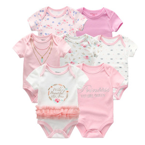 Image 3 - 2019 Baby Romper 7PCS/Lot Cotton Unisex Baby Girl Clothes 0 12M Newbron Baby Clothes Short Sleeve Baby Boy Clothes Roupa de bebe