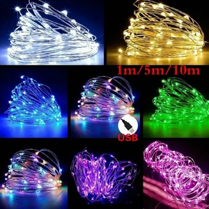 1M 5M 10M LED String Fairy Lights USB Copper Wire Wedding Festival Christmas Party Decoration Light Waterproof Outdoor Lighting