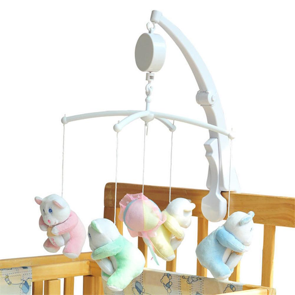 Baby Crib Bed Hanging Bell Wind-up Rotating Music Box Kids Develop Toy Gift Light Music Helps Your Baby Easier Fall Asleep