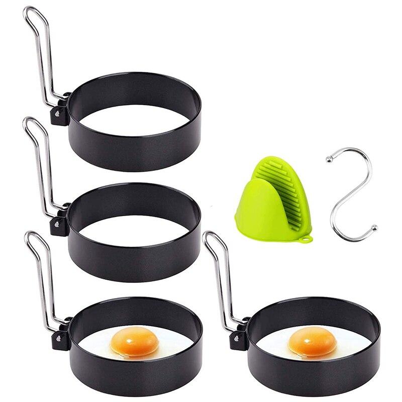 Кольцо для яиц, 5 упаковка, нержавеющая сталь, форма для яичных колец с антипригарным формирователем, круги для жареных яиц, бутерброды McMuffin|Кольца для яиц и блинчиков| | АлиЭкспресс - ДЛЯ ЯИЦ