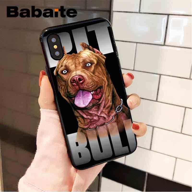 Babaite çukur boğa köpek Pitbull yavru hayvan lüks benzersiz tasarım telefon kılıfı için iPhone 8 7 6 6S artı X XS MAX 5 5S SE XR cep telefonları
